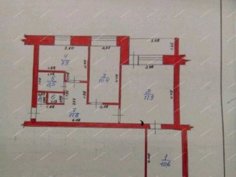 трёхкомнатная квартира в квартале Ломоносова дом 15 город Чкаловск