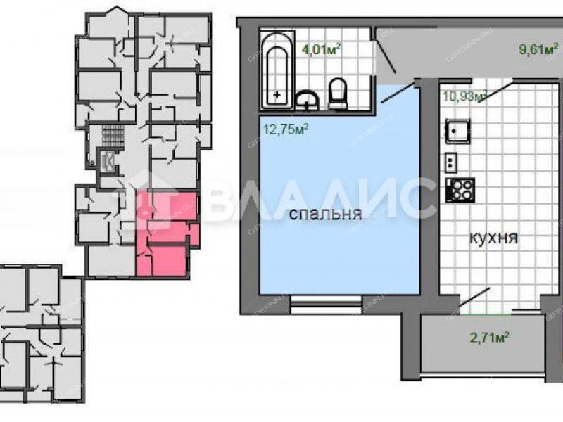 двухкомнатная квартира в новостройке на Береговой улице город Кстово