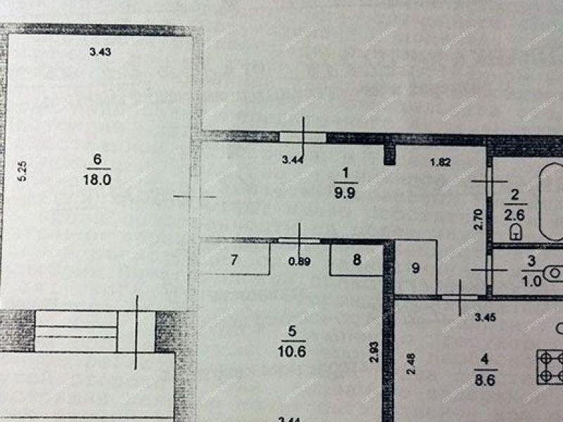 двухкомнатная квартира на улице Шверника дом 47 город Саров