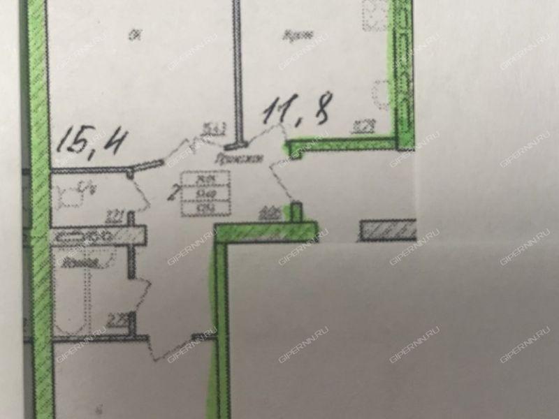 двухкомнатная квартира в новостройке на Куликова улица город Арзамас